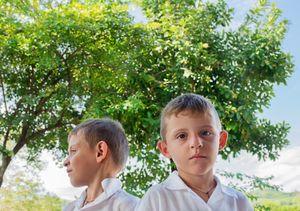 Galeana twins after Math class. Centenario de la Revolucion Primary School. Zihuatanejo.
