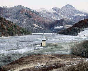 The Flooded Village of Geamana (Geamana, Central Romania), 2011. Showing at The Photographer Gallery's. Courtesy of Photo London.