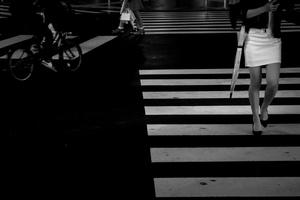 Early evening at Shinjuku crossing, Tokyo