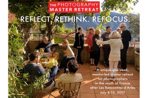 THE PHOTOGRAPHY MASTER RETREAT_APPLICATIONS due on January 10, 2017.
