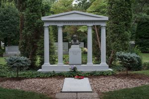 Grave of Colonel Harland Sanders and His Wife Claudia, Louisville, Kentucky, 2014