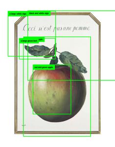 """Paglen Studio Research Image. How computer vision might see René Magritte's 1964 painting """"Ceci n'est pas une pomme"""" © Trevor Paglen. Courtesy of the artist."""