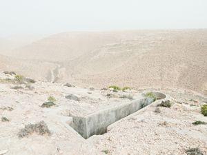 "Gun placement, Bunker Z97, after a sandstorm, Wadi Zitoune Battlefield, Tobruk perimeter, Libya | From the book ""Topography is Fate: North African Battlefields of World War II"" | © Matthew Arnold Photography"
