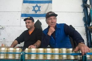 Israeli workers seen during their shift in a food factory, north of Israel, 2009.