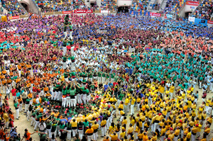 Concurs de Castellers, Tarragona, Spain, 2014.