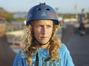 Luca on Skateboard Ramp