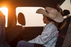 Kole (and Jette) returning home from a junior rodeo close to Reno, Sparks, Nevada 2013