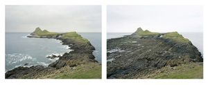 Grand Prize Winner, Portfolio Category Lens Culture International Exposure Awards 2011 Worm's Head, Gower. 25 June 2005. High water 9:45 am, low water 4 pm, from the series Sea Change © Michael Marten
