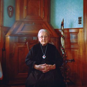 Marguerite Rott, Alsace/France, 2012. From the series: The last women in their traditional peasant garbs
