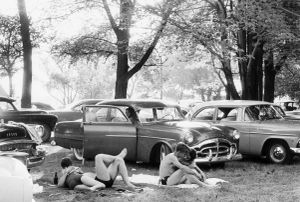 "Picnic Ground-Glendale, California, 1958. From ""The Americans."" © Robert Frank. Published by Robert Delpire, then Grove Press, and most recently reprinted by Steidl."