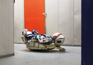 SOKOL KV2 Space Suit, KAZBEK seat from a Soyuz rocket, Warehouse, London, United Kingdom, 2009 © Vincent Fournier