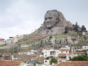 Ataturk Mask. Buca, Izmir, Turkey, 40 m (132 ft). Built in 2009  © Fabrice Fouillet