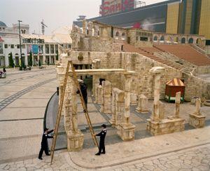 Fixing the Colosseum, Macau, China.