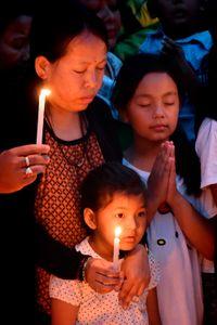 In silent prayer
