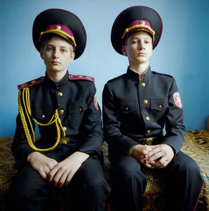 Stanislav and Anton. Military boarding school, Ukraine, 2015. © Michal Chelbin