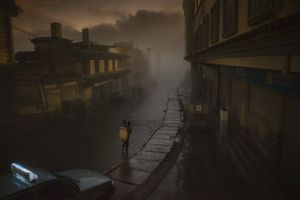 Long Road to Daybreak. Realizing this old town would soon be transformed into a new town through the speedy economic growth in China, I was pleased to capture this working mother carrying her child in her basket walking through the thick mist in a very early foggy morning. <br> Places Winner © Adam Tan/National Geographic Photo Contest