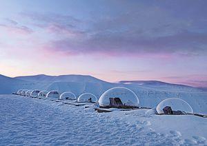 Kjell Henriksen Observatory #1 [KHO], Adventdalen, Spitsbergen Island, Norway, 2010 © Vincent Fournier