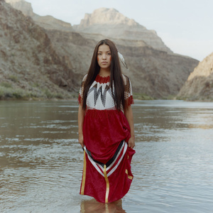 Sage Honga, 22, of the Hualapai tribe, earned the title of 1st attendant in the 2012 annual pageant, Miss Native American USA. From that point forward, she has been promoting her platform encouraging Native youth to travel off the reservation to explore opportunities. Sage is photographed at a sacred site of the Hualapai people and one of the Seven Natural  Wonders of the World, the Grand Canyon.