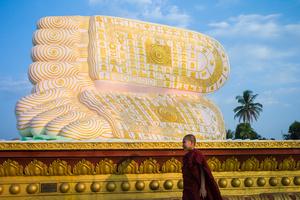 Buddhas feet in Bago