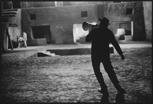 "Federico Fellini, On the set of ""Satyricon"", Rome, Italy 1969 © Mary Ellen Mark"
