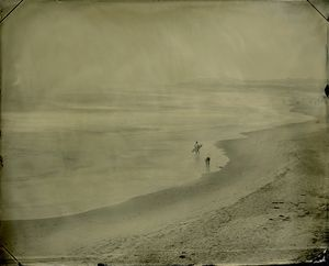 "06.07.12 #4 Lone Surfer, 8"" x 10"" unique tintype © Joni Sternbach"