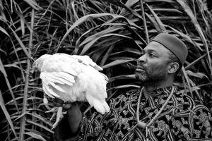 Nwabu 40 years old dressed like an igbo chief.