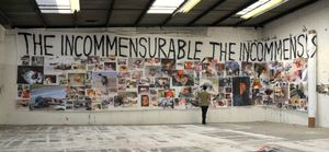 The Incommensurable Banner, 2007 (Studio view) © Thomas Hirschhorn