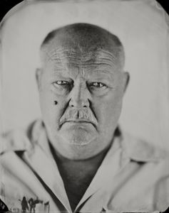 """Chuck."" 8x10"" Wet-plate collodion tintype. © 2012 Keliy Anderson-Staley"