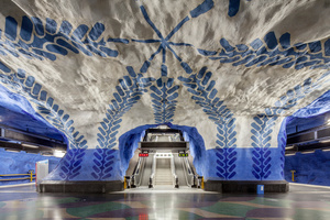 Stockholm metro. C-print on Kodak Endura Premier, glossy