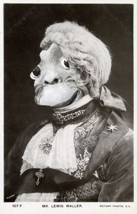 Face of Primate Actor in 18th-Century  Costume