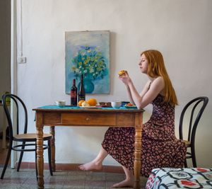 Girl in Florence Apartment