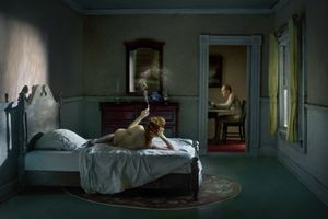 "Pink Bedroom (Odalisque). From the series ""Hopper Meditations"" © Richard Tuschman"