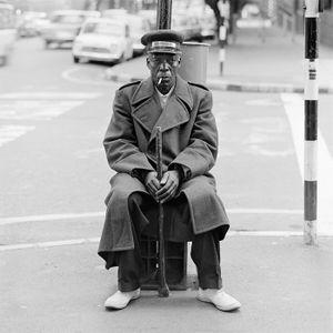 The watchman, Balnagask Court, Hillbrow. June 1972 © David Goldblatt