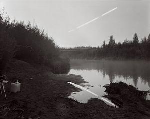 Reflection of the Rising Moon Over The Dalton Highway, Alaska