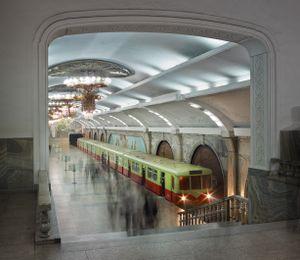 The Chollima Line Metro, Pyongyang, North Korea, 2014