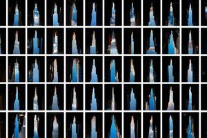 BUILDINGS MADE OF SKY IX, installation, 2012 © Peter Wegner