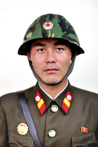North Korean guard.