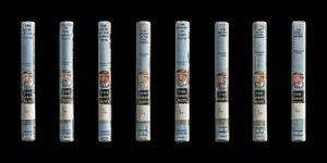 Multiple Spines, Hardy Boys Set (The Secret Caves, Mystery of the Desert Giant, The Mystery of the Chinese Junk, The Secret of the Lost Tunnel, The Mystery of Cabin Island, The Melted Coins, The Arctic Patrol Mystery, The Shattered Helmet) © Kerry Mansfield