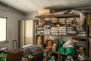 SINTRA, PORTUGAL The office of a renown artisan basketmaker's shop. They provide their products all around the world, and it looks like they keep using the old fashion accounting system, just the same way they make their products strictly by hand. This might prove that you can be internationally successful without using computers. © Carlos Spottorno