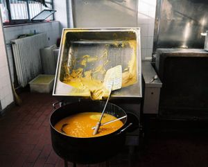 Army Cooks, Lepoglava, HR, 2007. Tomo owned a restaurant in Opatija, where anti-Tito protestors met. Tomo was arrested for harboring anti-government sentiment and sentenced to 20 years. In prison, he learned to cook meals using rotting groceries. Thanks to his mastery of the art of cooking, his friends from prison now occupy seats in the Croatian parliament. © Martin Kollar.