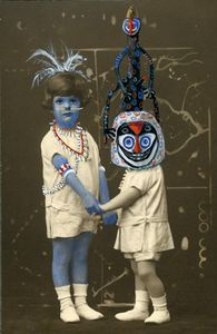 "Blue Mademoiselle, from the series ""Chimera and Wonders"", 2011 © Coco Fronsac,  Courtesy Galerie Vallois"