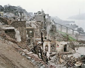 Three Gorges Dam Project, Wan Zhou #2, Yangtze River, China 2002 © Edward Burtynsky