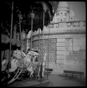 Carousel at the Base of Sacre Coeur, Paris, France