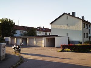 Residential area on the Dachau concentration camp site outskirts.
