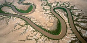 "Forest River, Kimberley, Western Australia, Australia. A tidal river system, north-west of Wyndham, from the series ""Abstract Earth"" © Richard Woldendorp"