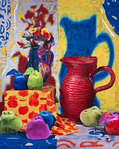 Still Life with Pitcher and Apples, 2013 © Daniel Gordon