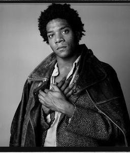 Jean Michel Basquiat for L'Uomo Vogue, 1984 © Richard Corman. Courtesy Peter Fetterman Gallery.