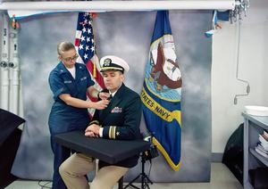 Portrait Studio, USS Ronald Reagan, North Arabian Gulf, 2009