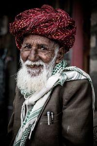 Old Bishnoi man, India