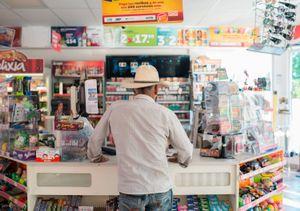 Mystery man in convenience store. Ixtapa.